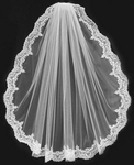 Layla - Royal Collection - Spectacular beaded lace wedding veil - SALE