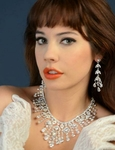 Leana - GORGEOUS Swarovski crystal wedding necklace set - SALE