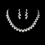 Leola - Dazzling and elegant pearl bridal necklace set