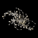Leyna - NEW romantic light ivory freshwater pearl crystal wedding comb - SALE