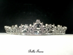 Liana - Italian collection - Beautiful swarovski crystal pearls communion tiara - SPECIAL - Back in stock