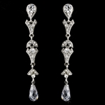 Libby - Elegant crystal drop vintage bridal earrings - SALE!!