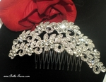 Liletta - Dramatic crystal rhinestone bridal hair comb - SPECIAL two left
