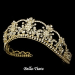 Lolita - Sparkling Rhinestone & Swarovski Crystal Covered Tiara in Gold