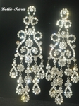 Glamorous chandelier wedding earrings - SPECIAL