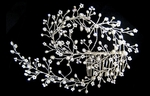 Loredana - Beautiful vine crystal and freshwater pearl bridal comb