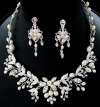 Loredana - Freshwater Pearl Vine Wedding Necklace set - SPECIAL - sold