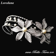 Loredana - Italian Collection - AMAZING couture crystal pearl bridal headband - SALE!!