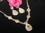 Loredana - Spectacular Light Gold Bridal Necklace Set - SALE!!