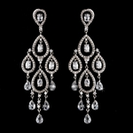 Louisa - BREATHTAKING Swarovski Crystal CZ wedding chandelier earrings - SALE