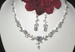 Loveknot- crystal vine bridal necklace set. - SALE!!