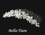 Lovely pearl and crystal communion tiara  comb - SALE