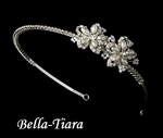 Lovely rhinestone and pearl communion headband - SPECIAL