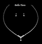 Lovely Rhinestone & Crystal Communion Necklace Set