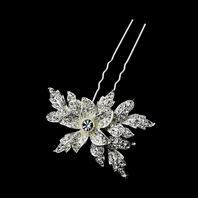 Lovely vintage leaf floral wedding hair pin - SALE