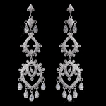 Lucretia - Royal Collection - CZ vintage bridal chandelier earrings - SALE!!