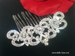 Luisa - Beautiful vintage rhinestone wedding hair comb - SPECIAL