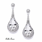 Luna - NEW!! STUNNING royal CZ drop earrings - SPECIAL