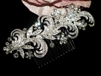 Lunabella - Beautiful vintage swirl wedding comb - SPECIAL - BACK IN STOCK