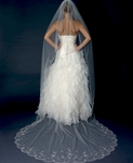 Luxurious collection - scalloped crystal beaded edge cathedral veil - SALE