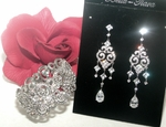 Mabel -  Beautiful vintage wedding earrings and bracelet set - SPECIAL