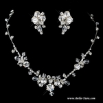 Macy - STUNNING delicate Swarovki crystal necklace set  - SALE