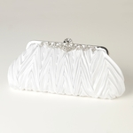 Maddie - Elegant white or ivory wedding purse - SALE