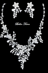 Madelaina - Beautiful romantic floral ivory pearl wedding necklace -  GREAT PRICE!!