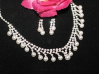 Maggie - Beautiful Pearl Rain Drops Bridal Necklace Set - SPECIAL SALE!!