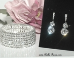 Maia - Gorgeous Elegant wedding CZ earring and bracelet set - SALE