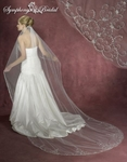 Majestic - 1-Tier Crystal Beaded Cathedral Bridal Veil - SALE!!