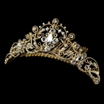 Majestic gold wedding hair comb tiara style - SALE