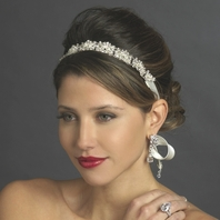 Makayla  - GORGEOUS Swarovski crystal ribbon Headband - SALE