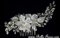MakennaBeautiful Swarovski crystal wedding side comb - SALE