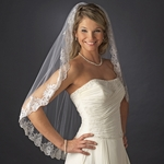 Manuela - Romantic mantilla lace wedding veil - SPECIAL!!