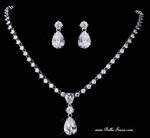 Marcella - Elegant Cubic Zirconia diamond like drop necklace set - SPECIAL!!!
