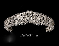 Marcetta - Royal Collection Swarovski crystal wedding headpiece - SALE