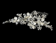 Marcy - Elegant crystal couture bridal comb - SPECIAL