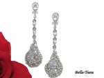 Margaret - BEAUTIFUL rhinestone drop earrings - SPECIAL - BACK IN STOCK