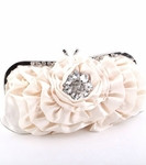 Margarita - Romantic and elegant satin ivory wedding purse - ONE LEFT