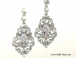 Maria-Lisa - Royal Collection - STUNNING vintage Swarovski crystal wedding earrings - SALE a few left
