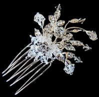 Maria-Sweeping Crystals Bridal Hair Pins (set of 2)