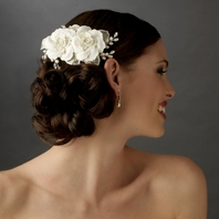 Mariaangela - Beautiful crystal Ivory Bridal hair flower comb - SALE!!