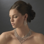 Mariadonna - Stunning Swarovski AB crystal wedding necklace set - SALE