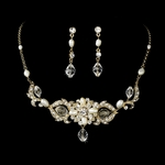 MariaElena-HEIRLOOM DESIGN Bridal Crystal Necklace Set