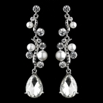 Marie - Elegant white pearl swirl drop earrings - SPECIAL