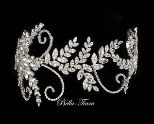 Marina - Royal collection stunning crystal swirl wedding headpiece