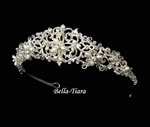 Marisol - Vintage freshwater and crystal bridal tiara - SALE!!