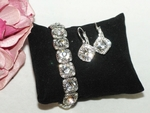 Maritza - Beautiful Swarovski crystal bracelet earring set - SPECIAL