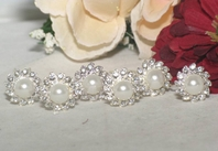 Martiza -Elegant pearl beauty bridal hair pins - Set of 6 -- SALE!!!